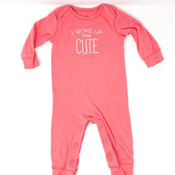 Carter's Other - Carter's | Baby Girl Pink Button Pajama 9 Month